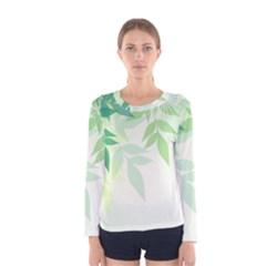 Spring Leaves Nature Light Women s Long Sleeve Tee