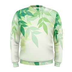 Spring Leaves Nature Light Men s Sweatshirt