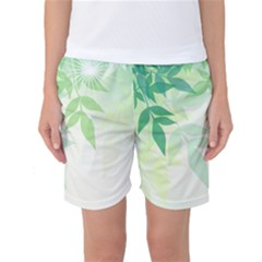 Spring Leaves Nature Light Women s Basketball Shorts