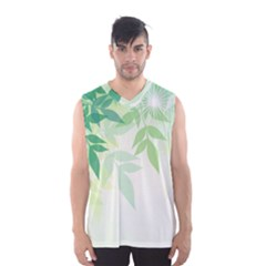 Spring Leaves Nature Light Men s Basketball Tank Top