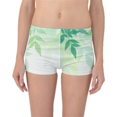 Spring Leaves Nature Light Boyleg Bikini Bottoms