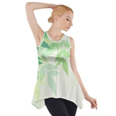 Spring Leaves Nature Light Side Drop Tank Tunic