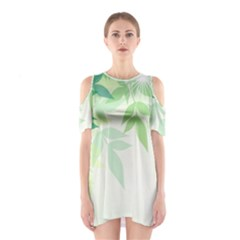 Spring Leaves Nature Light Shoulder Cutout One Piece