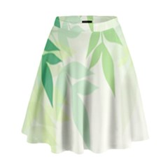 Spring Leaves Nature Light High Waist Skirt