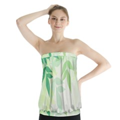 Spring Leaves Nature Light Strapless Top