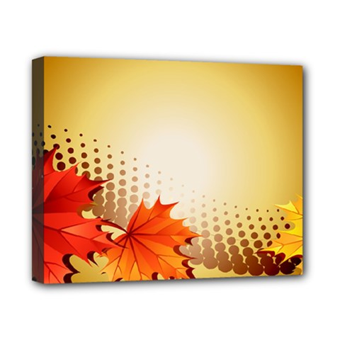 Background Leaves Dry Leaf Nature Canvas 10  X 8