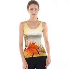 Background Leaves Dry Leaf Nature Tank Top