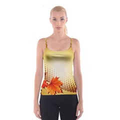 Background Leaves Dry Leaf Nature Spaghetti Strap Top