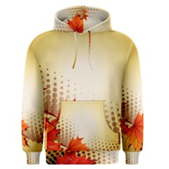 Background Leaves Dry Leaf Nature Men s Pullover Hoodie