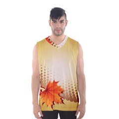 Background Leaves Dry Leaf Nature Men s Basketball Tank Top