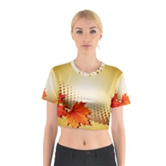 Background Leaves Dry Leaf Nature Cotton Crop Top