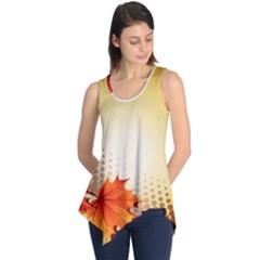 Background Leaves Dry Leaf Nature Sleeveless Tunic