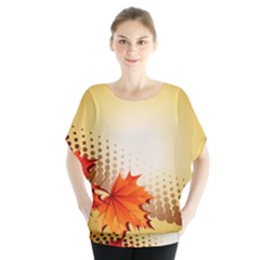 Background Leaves Dry Leaf Nature Blouse