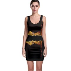 Waste Incineration Incinerator Sleeveless Bodycon Dress
