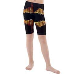 Waste Incineration Incinerator Kids  Mid Length Swim Shorts