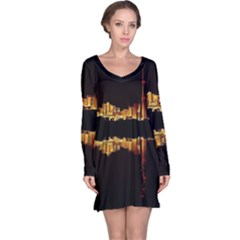 Waste Incineration Incinerator Long Sleeve Nightdress