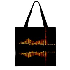 Waste Incineration Incinerator Zipper Grocery Tote Bag