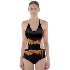 Waste Incineration Incinerator Cut-Out One Piece Swimsuit