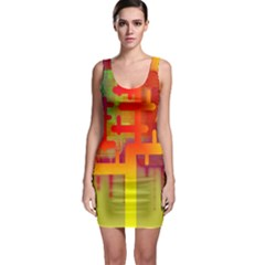 Binary Binary Code Binary System Sleeveless Bodycon Dress