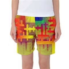 Binary Binary Code Binary System Women s Basketball Shorts
