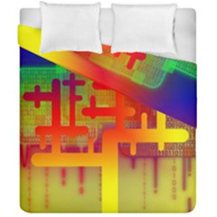 Binary Binary Code Binary System Duvet Cover Double Side (california King Size)