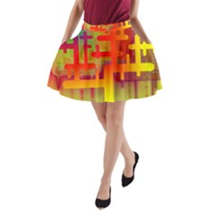 Binary Binary Code Binary System A Line Pocket Skirt