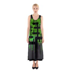 Binary Binary Code Binary System Sleeveless Maxi Dress
