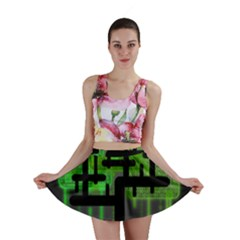 Binary Binary Code Binary System Mini Skirt