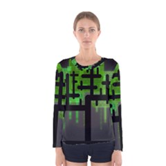 Binary Binary Code Binary System Women s Long Sleeve Tee