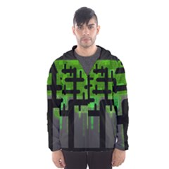 Binary Binary Code Binary System Hooded Wind Breaker (Men)