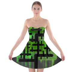 Binary Binary Code Binary System Strapless Bra Top Dress
