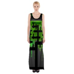 Binary Binary Code Binary System Maxi Thigh Split Dress