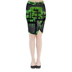 Binary Binary Code Binary System Midi Wrap Pencil Skirt