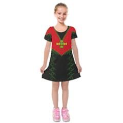 Dressed For Success Kids  Short Sleeve Velvet Dress