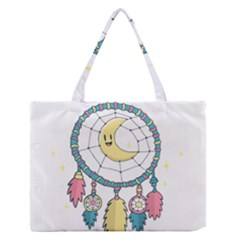 Cute Hand Drawn Dreamcatcher Illustration Medium Zipper Tote Bag