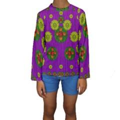 Buddha Blessings Fantasy Kids  Long Sleeve Swimwear
