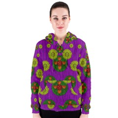 Buddha Blessings Fantasy Women s Zipper Hoodie