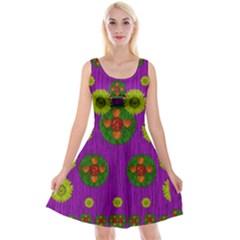 Buddha Blessings Fantasy Reversible Velvet Sleeveless Dress