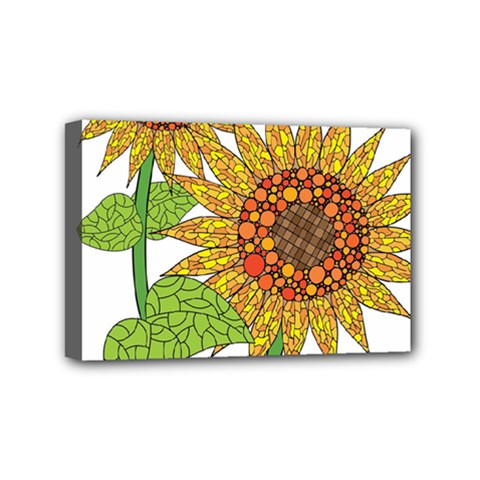 Sunflowers Flower Bloom Nature Mini Canvas 6  x 4