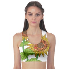 Sunflowers Flower Bloom Nature Sports Bra