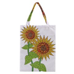 Sunflowers Flower Bloom Nature Classic Tote Bag