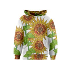 Sunflowers Flower Bloom Nature Kids  Pullover Hoodie