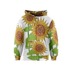 Sunflowers Flower Bloom Nature Kids  Zipper Hoodie