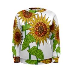Sunflowers Flower Bloom Nature Women s Sweatshirt