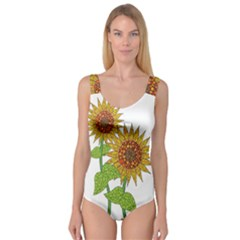Sunflowers Flower Bloom Nature Princess Tank Leotard