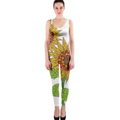 Sunflowers Flower Bloom Nature Onepiece Catsuit