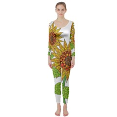 Sunflowers Flower Bloom Nature Long Sleeve Catsuit