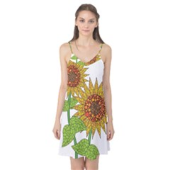 Sunflowers Flower Bloom Nature Camis Nightgown
