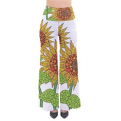 Sunflowers Flower Bloom Nature Pants