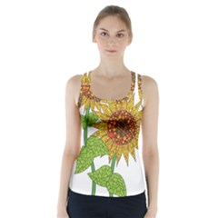 Sunflowers Flower Bloom Nature Racer Back Sports Top
